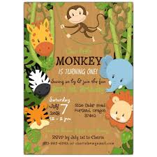 Jungle Theme Birthday Invitations Around The Jungle Birthday Invitations