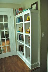 Pictures Of Built In Bookcases Craft Project Fake Built In Bookcase Look Between The Lines