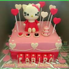 Bolu Ultah Anniversary Hello Kitty Birthday Cake Custom Trusted