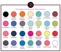 Comfort Colors T Shirts Color Chart Comfort Colors Long Sleeve T Shirts Color Chart Nils