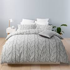 oslo knit print quilt cover set