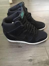 nike dunk sky hi black suede leather size 5