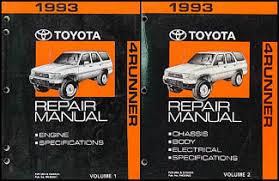 1993 toyota 4runner wiring diagram manual original 1993 toyota 4runner repair shop manual set original 139 00