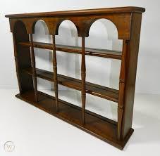 vintage wood plate shelf rack wall