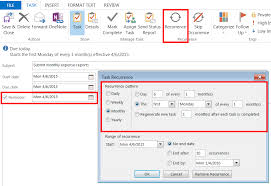 Create Outlook How To Create Repeating Outlook Tasks And Reminders