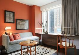 home office cable management. Burnt Orange Wall Home Office Contemporary With Gray Sofa Cable Management