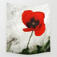 poppy tapestry flower tapestry fl