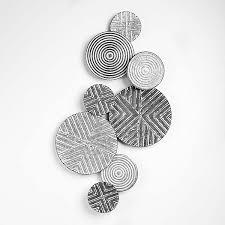 grey circular metal wall art kaleidoscope