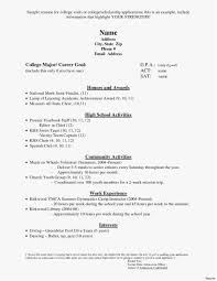 Resume For School Free Download Elegant Sample College Application