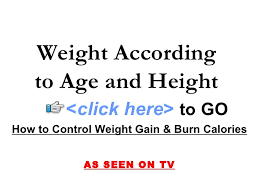 Weight Acc To Height And Age Weight According To Age And Height