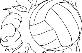 Volleyball Color Pages Volleyball Pictures To Color D3278 Easy Volleyball Coloring Pictures