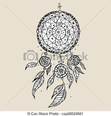 Dream Catchers Sketches Dream catcher decorative vector illustration Dream catcher 100