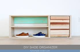 This DIY Shoe Cabinet is made from wood scraps and a painted back panel.  Full