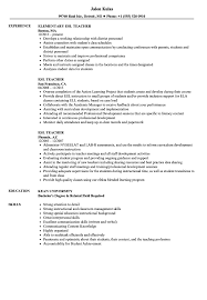 Esl Resume ESL Teacher Resume Samples Velvet Jobs 1