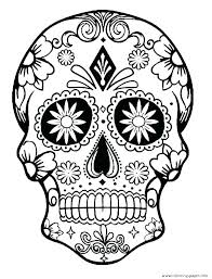 Free Printable Sugar Skull Coloring Pages Campoamorgolfinfo