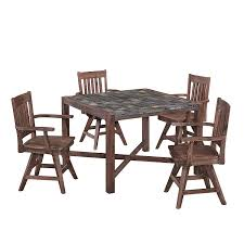 Amazoncom Morocco Dining Set With Square Table And Four Swivel