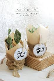 succulent thank you gift idea with free printable