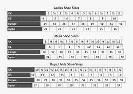 Adidas Shoes Size Chart Japan 66 Surprising Boy And Girl Shoe Size Chart