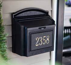 residential mailboxes. Black Wall Mount Residential Mailboxes