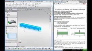 solidworks simulation cantilever bending