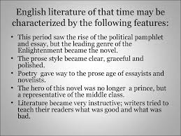essays on the enlightenment essaytopics enlightenment essay topics  the enlightenment and the english literature of the th century english literature of that time be