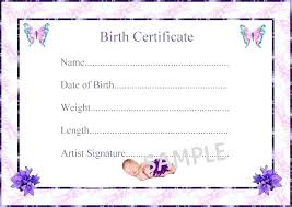Fake Birth Certificate Template Free Download Naveshop Co