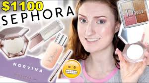i spent 1100 at sephora full face of new makeup 2018 fenty beauty abh norvina dior more