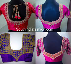 Blouse back neck designs 2016