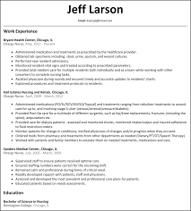 Resume For Charge Nurse Free Resume Example And Writing Download