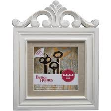 better homes and gardens picture frames. Fine Gardens Better Homes And Gardens 5x5 Frame With Cornice Embellishment Distressed  White Inside And Picture Frames E