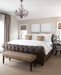 Neutral Bedroom Ideas with White Accents: Fancy Traditional Fabric  Upholstery Footboard And Tufted Bedframe Design In Neutral Bedroom Ideas  Beautify With ...