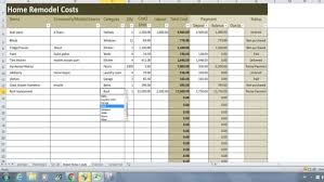 Home Renovation Spreadsheet For Costs Home Renovation Costs Calculator Excel Template Remodel