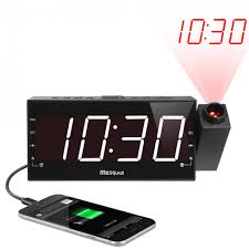 am fm digital projection alarm clockradio project time on wall pertaining to ceiling alarm clock