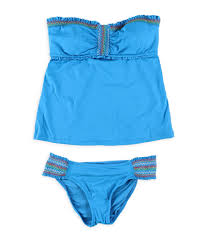 Lucky Brand Womens Stitched Ruffled 2 Piece Bandeau