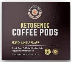 Gluten free & soy free: Rapid Fire Ketogenic Coffee Pods French Vanilla Flavor 8 48 Oz 16 Pods Walmart Com Walmart Com