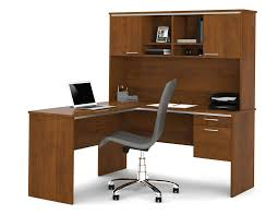 l shaped desk with hutch. Interesting Hutch Bestar Flare Series L Shaped Office Desk Hutch Included Intended With
