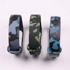 Waterproof Camouflage Printing Silicone Wristband <b>Bracelet For</b> ...