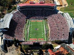 Ole Miss Vaught Hemingway Stadium Aerial View Canvas Print