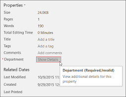 Where is the Document Information Panel in Office 2016? - Office Support