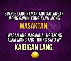 Tagalog Quotes About Friendship New Tagalog Quotes About Friendship Magnificent Kaibigan Lang Quotes And