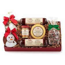 cheer up gift baskets hickory farms happy holiday flavors box