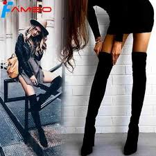 <b>FAMSO</b> Size 34-43 2018 <b>New Shoes Women Boots</b> Black Over the ...