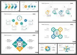 Informational Chart Design Set For Business Presentation Concept