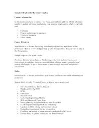 career objective for mba resumes career objective for resume sample finance student mba simple
