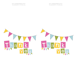 Template Thank You Card Template