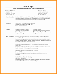 Sample Resume For Computer Science Fresh Graduate Career Objective