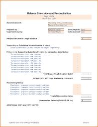 Reconciliation Template Balance Sheet Reconciliation Template Excel Balance Sheet