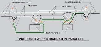 how to wire multiple fluorescent light fixtures light fixture ideas wiring two fluorescent lights in parallel simple diagram