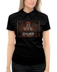 """Рубашка Поло с полной запечаткой """"<b>Сталкер</b>"""" #2779689 от ..."""