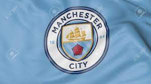 Close-up Of Waving Flag With Manchester City F.C. Football Club.. Stock  Photo, Picture And Royalty Free Image. Image 70598788.